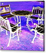 Let Us Sit Here Acrylic Print