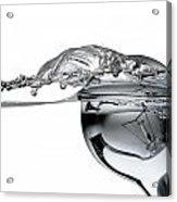 Light Bulb And Splash Water Acrylic Print