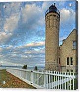 Lighthouse At Mackinac Acrylic Print