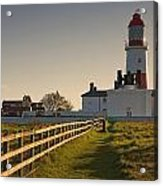 Lighthouse South Shields, Tyne And Acrylic Print