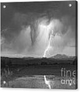 Lightning Striking Longs Peak Foothills 3 Acrylic Print