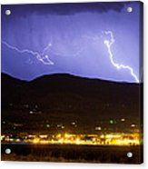 Lightning Striking Over Ibm Boulder Co 2 Acrylic Print