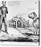 Lincoln: Cartoon, 1864 Acrylic Print