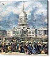 Lincoln Inauguration, 1865 Acrylic Print