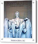 Lincoln Memorial Acrylic Print by Jim McDonald Photography