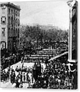 Lincolns Funeral Procession, 1865 Acrylic Print by Photo Researchers