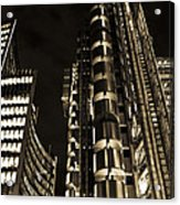 Lloyds Building London In Gold Acrylic Print