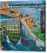 Lock And Dam 19 Acrylic Print by Jame Hayes