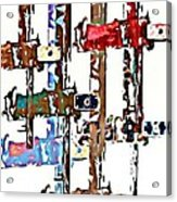 Long Locks Acrylic Print
