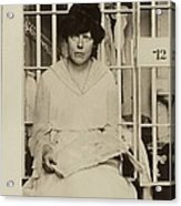 Lucy Burns 1879-1966, In A Jail Acrylic Print by Everett