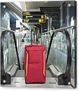 Luggage At The Top Of An Escalator Acrylic Print