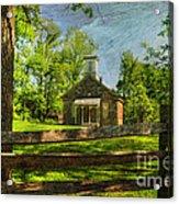 Lutz-franklin Schoolhouse Acrylic Print