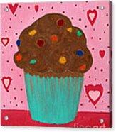 M And M Cupcake Acrylic Print