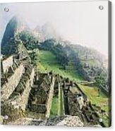 Machu Picchu In The Fog Acrylic Print