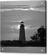 Madisonville Lighthouse Sunset Acrylic Print