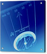 Magnetic Compass Acrylic Print