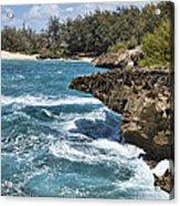 Mahaulepu Beach Acrylic Print