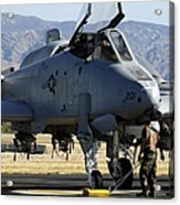Maintainers Perform Pre-flight Acrylic Print
