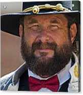 Major General L. L. Lomax Portrayed By Dan L. Carr 150th Anniversary Of The American Civil War Acrylic Print