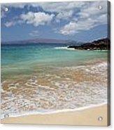 Makena Ocean And Sand Acrylic Print