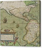 Map Of North And South America Acrylic Print