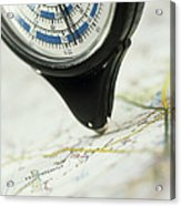 Map Wheel Acrylic Print by Steve Horrell