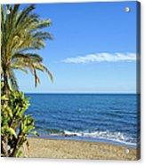 Marbella Beach In Spain Acrylic Print