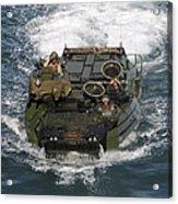 Marines Navigate An Amphibious Assault Acrylic Print