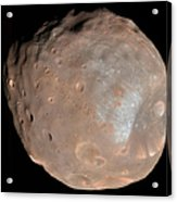 Mars Moon Phobos Acrylic Print