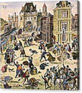 Massacre Of Huguenots Acrylic Print by Granger