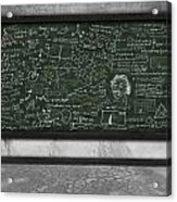 Maths Formula On Chalkboard Acrylic Print