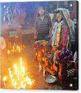 Maximon Ceremony In Guatemala Acrylic Print