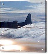 Mc-130p Combat Shadow Dropping Flares Acrylic Print