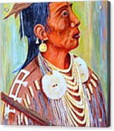 Medicine Crow-warrior Acrylic Print by Janna Columbus