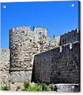 Medieval Fortress Of Rhodes. Acrylic Print