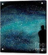 Meditation Under The Stars Acrylic Print by NARI - Mother Earth Spirit