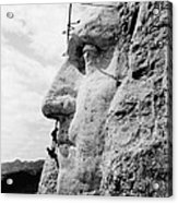 Men Working On Mt. Rushmore Acrylic Print