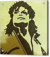 Michael Jackson Acrylic Print by Damian Howell