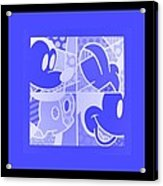 Mickey In Negative Light Blue Acrylic Print