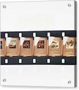 Microfilm Acrylic Print
