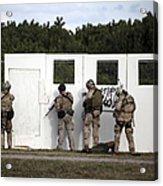 Military Reserve Members Prepare Acrylic Print by Michael Wood