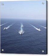 Military Ships Transit The Philippine Acrylic Print