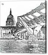 Millenium Bridge And St Pauls Acrylic Print