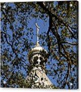 Minaret Through Oak Acrylic Print