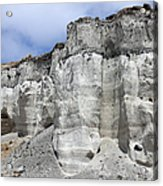 Minoan Eruption Deposits, Mavromatis Acrylic Print