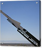 Missile On Display At Alamogordo Space Acrylic Print