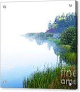 Misty Morning Big Ditch Lake Acrylic Print