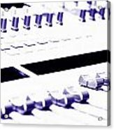 Mixing Console Acrylic Print