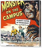 Monster On The Campus, Arthur Franz Acrylic Print by Everett