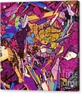 Moon Rock, Transmitted Light Micrograph Acrylic Print